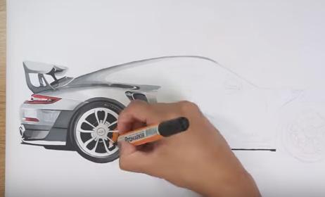 Dibujo Porsche 911 GT2 RS