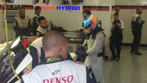 Fernando Alonso prueba Toyota Le Mans