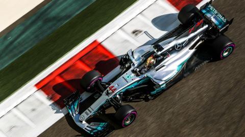 Lewis Hamilton, durante el Gran Premio de Abu Dhabi
