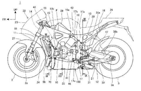 Patentes Honda RVF1000 2019