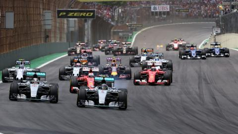 Salida GP Brasil F1 2015