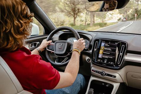 Al volante del Volvo XC40