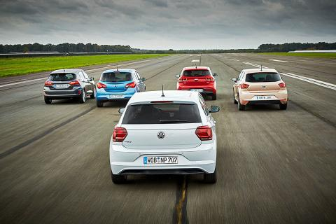 Volkswagen Polo vs Opel Corsa, Ford Fiesta, Seat Ibiza y Kia Rio
