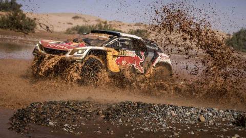 Carlos Sainz en el Rally de Marruecos