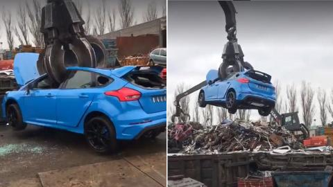 Ford Focus RS destruido