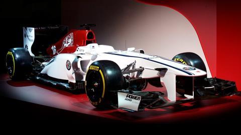LATERAL DEL ALFA ROMEO SAUBER F1 TEAM