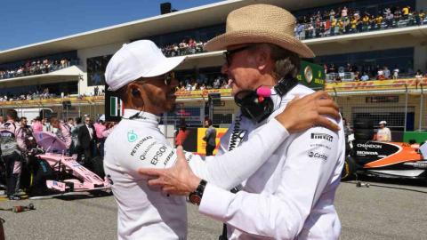 Lewis Hamilton y Mansour Ojjeh