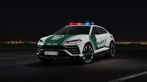 Render Lamborghini Urus de la policía de Dubai