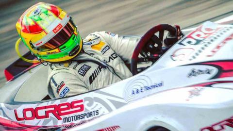 Roberto Merhi en kart