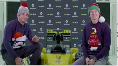 Sainz y Hulkenberg felicitan la navidad
