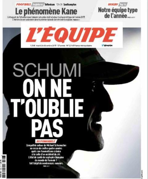 Schumacher, en la portada de Lequipe