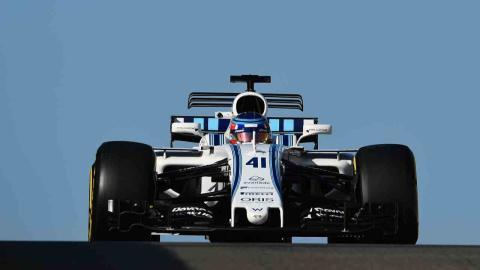 Sergey Sirotkin prueba el Williams en Abu Dhabi