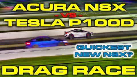 Acura NSX o Tesla Model S, ¿cuál es más rápido?