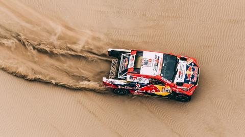 Al Attiyah, en la tercera etapa del Dakar 2018