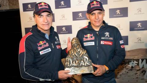 Carlos Sainz y Lucas Cruz en Madrid
