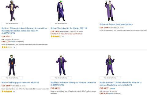 Disfraces del Joker en Amazon
