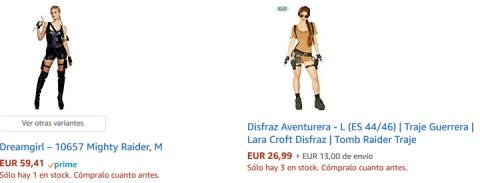 Disfraces de Lara Croft en Amazon