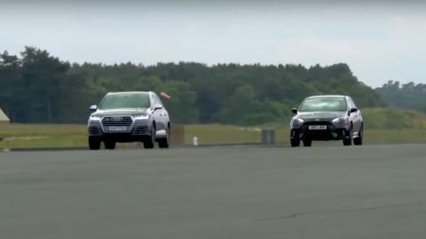 Ford Focus RS vs Audi SQ7