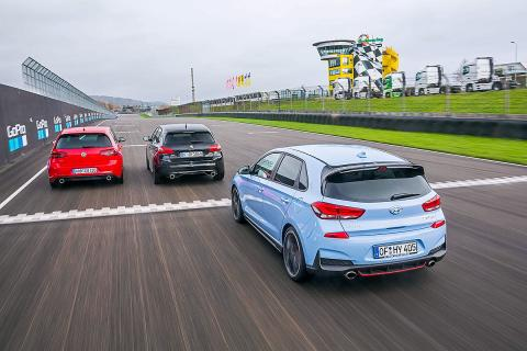 Hyundai i30 N vs VW Golf GTI vs Peugeot 308 GTi