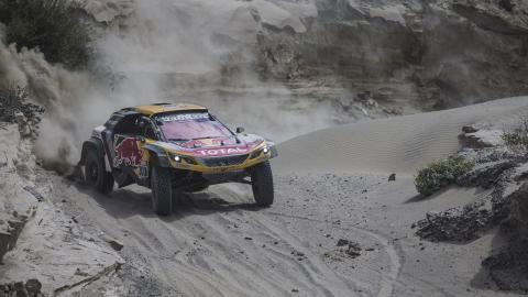 Peterhansel en la quinta etapa del Dakar