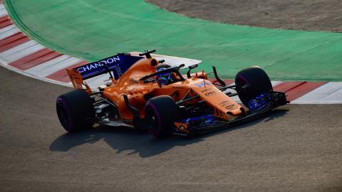 Alonso test F1 Barcelona
