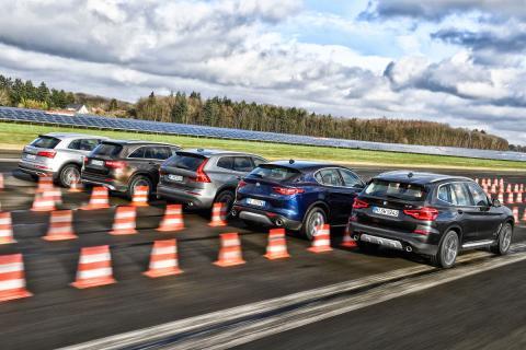 BMW X3 vs Alfa Stelvio,Audi Q5,Mercedes GLCy Volvo XC60