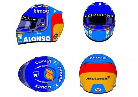 Casco Fernando Alonso
