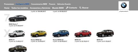 Configurador BMW X3 (I)