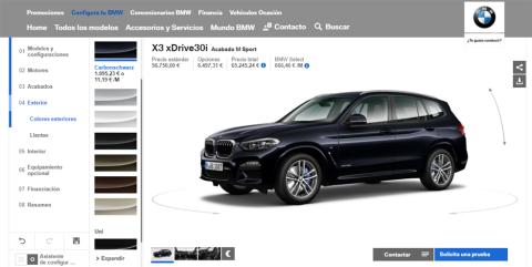 Configurador del BMW X3 (IV)