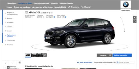 Configurador del BMW X3 (VI)