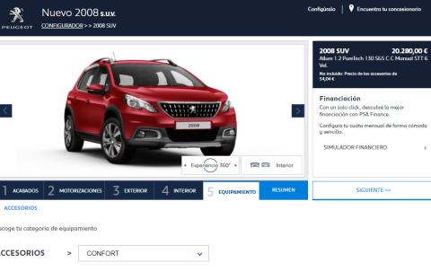 Configurador del Peugeot 2008