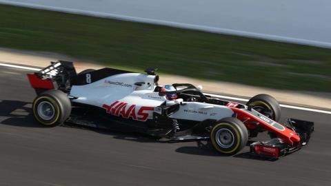 Haas F1 en Circuit Barcelona-Catalunya