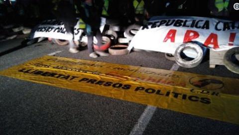 AP-7 cortada por protestas independentistas