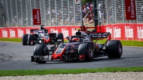 Equipo Haas F1 en Australia