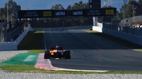 Fernando Alonso en el sexto día de test de F1