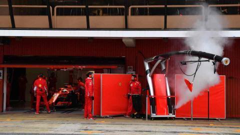 Ferrari F1 humo