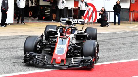 Haas F1 test 2