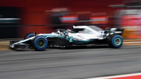 Hamilton test Barcelona