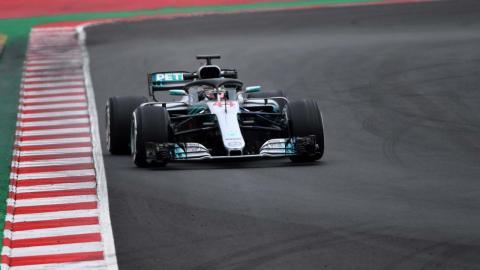 Lewis Hamilton test Barcelona
