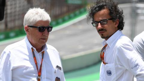 Mekies en el GP Brasil