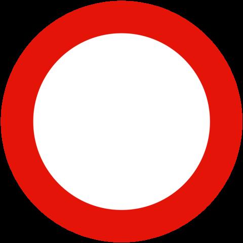 Señal de tráfico: circulación prohibida