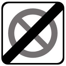 Señal de tráfico: fin de la zona de estacionamiento limitado