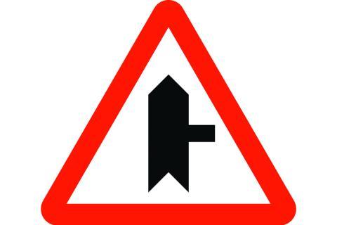 Señal de tráfico: inserción con prioridad a la derecha