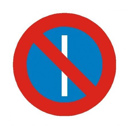 Señal de tráfico: Estacionamiento prohibido en días impares
