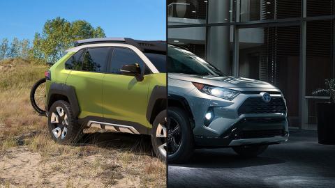 Toyota RAV4 2019 vs Toyota FT-AC Concept