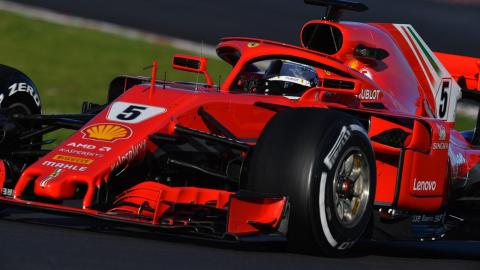 Vettel F1 test
