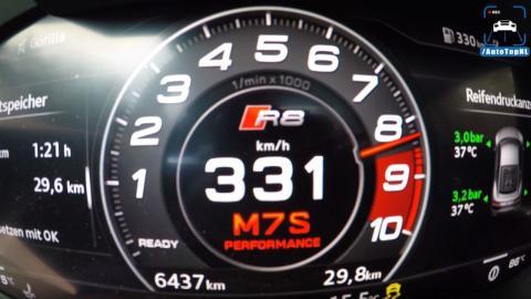 333 kmh Audi R8 V10 Plus