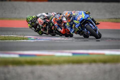 Álex Rins consigue su primer podio en MotoGP