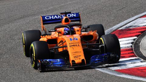 Alonso durante el GP China 2018