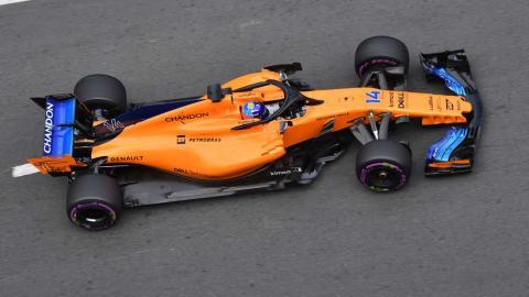 Alonso, fuera de la Q3 en Azerbaiyán